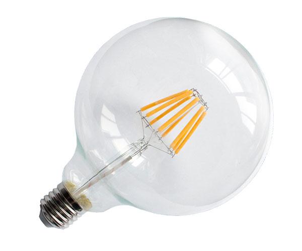 Λάμπα LED Filament Νήματος Vintage Globe 8W G125 E27