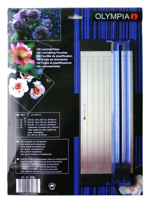 5514549-0007-Olympia 3083 2 IN 1 Σετ μηχάνημα κοπής φύλλων και φύλλα πλαστικοποίησης