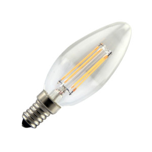 3050202-156-Λάμπα LED Filament Νήματος Vintage 4W Κερί E14