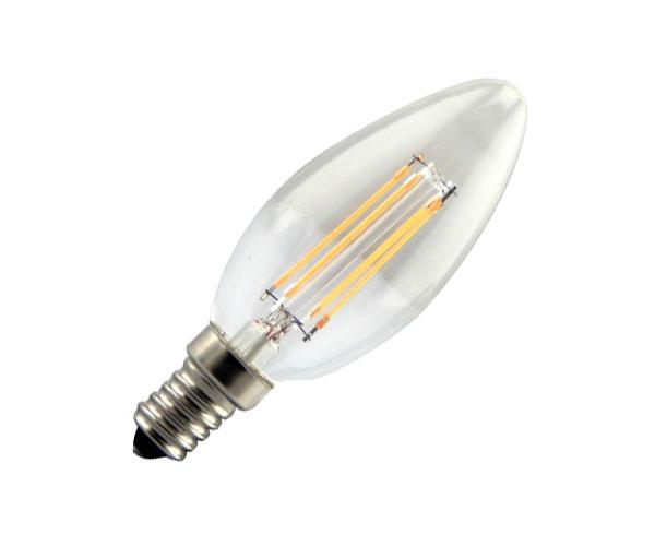 Λάμπα LED Filament Νήματος Vintage 4W Κερί E14