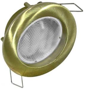 Σποτ Χωνευτό Σταθερό για Λάμπα 50mm MR16 Χρυσό Ματ
