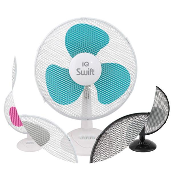 Ανεμιστήρας Επιτραπέζιος 50W 40cm IQ PDF-43 Λευκός με τυρκουάζ pop life φτερά