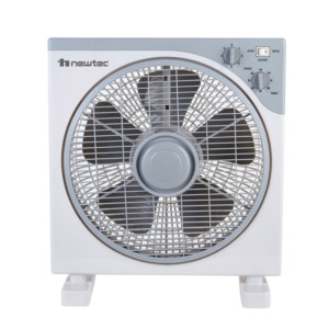 Ανεμιστήρας Box Fan 40W 30cm NewTec NT-3004 Γκρι  με 5 πτερύγια και Χρονοδιακόπτη