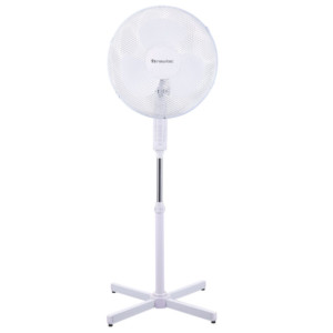Ανεμιστήρας Ορθοστάτης Πλαστικός Λευκός 40cm 45W