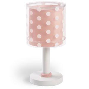 Ango 41001 S - Dots Pink κομοδίνου παιδικό φωτιστικό διπλού τοιχώματος