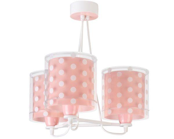 Ango 41007 S - Dots Pink κρεμαστό τρίφωτο φωτιστικό οροφής