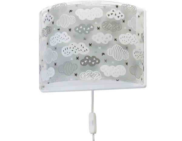 Ango 41418 E - Clouds Gray παιδικό φωτιστικό απλίκα τοίχου διπλού τοιχώματος