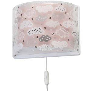 Ango 41418 S - Clouds Pink παιδικό φωτιστικό απλίκα τοίχου διπλού τοιχώματος