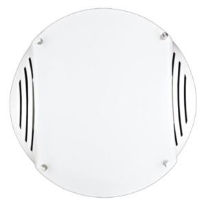 Πλαφονιέρα Οροφής Λευκή-Χρώμιο E27 MUZO OKTAY