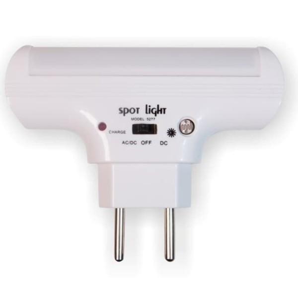LED Φως Νυκτός 1W SMD 6000K Ψυχρό Λευκό Με Αισθητήρα Φωτός Μέρας/Νύχτας 5277 Spotlight