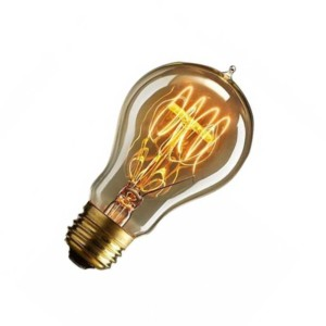 5105351-465-Λάμπα Edison Vintage Bronze Κοινός Α60 40W E27