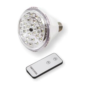 5105496-495-Λάμπα LED Ασφαλείας με Τηλεχειριστήριο 2W E27 6000K Ψυχρό Λευκό