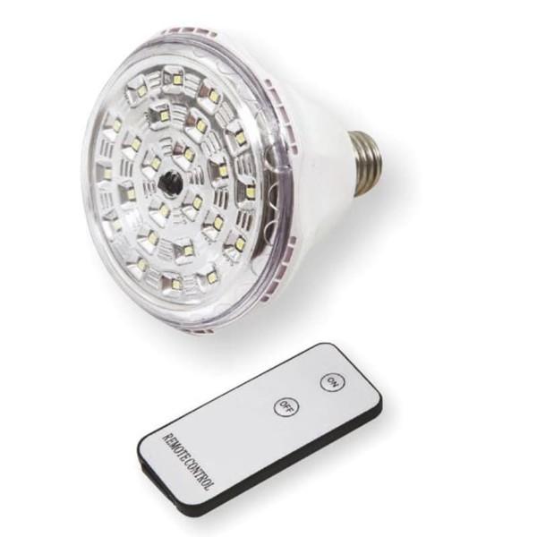 Φωτιστικό Ασφαλείας με υποδοχή Ε27 LED 2W 6000K 4V Ψυχρό Λευκό και Αυτονομία έως 6 ώρες 5496 Spotlight
