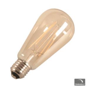 Λάμπα LED Vintage Filament Avocando 7W 2200K Μπρονζέ Ροοστατούμενη