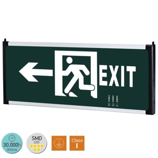 Κρεμαστό Φωτιστικό Ασφαλείας LED 3W 6000K 1.2V Ψυχρό Λευκό EXIT 5634 Spotlight