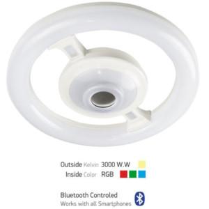 Λάμπα Led με Ηχείο και Bluetooth E27 22W 3000K Θερμό Λευκό / 4.5W-RGB Spotlight