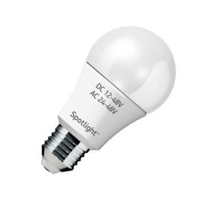 Λάμπα LED E27 8W 4000K AC/DC Spotlight 5740 Πολυτασική DC 12-48V / AC 24-48V