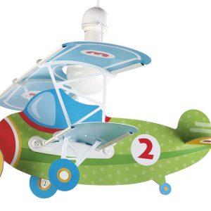 Ango 54022 - Baby Planes παιδικό φωτιστικό οροφήςσε σχήμα αεροπλάνουπράσινο