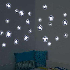 Ango 54506 - Glow Star φωσφορίζοντα αυτοκόλλητα τοίχου Medium μέγεθος