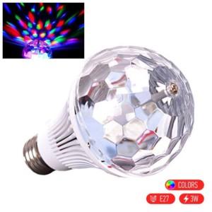 Λάμπα LED 3W E27 DISCO Περιστρεφόμενη για Πάρτυ και Ατμόσφαιρα
