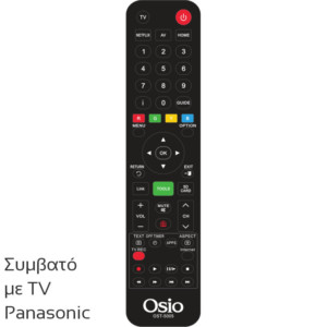 OSIO OST-5005-PA ΤΗΛΕΧΕΙΡΙΣΤΗΡΙΟ ΓΙΑ ΤΗΛΕΟΡΑΣΕΙΣ PANASONIC