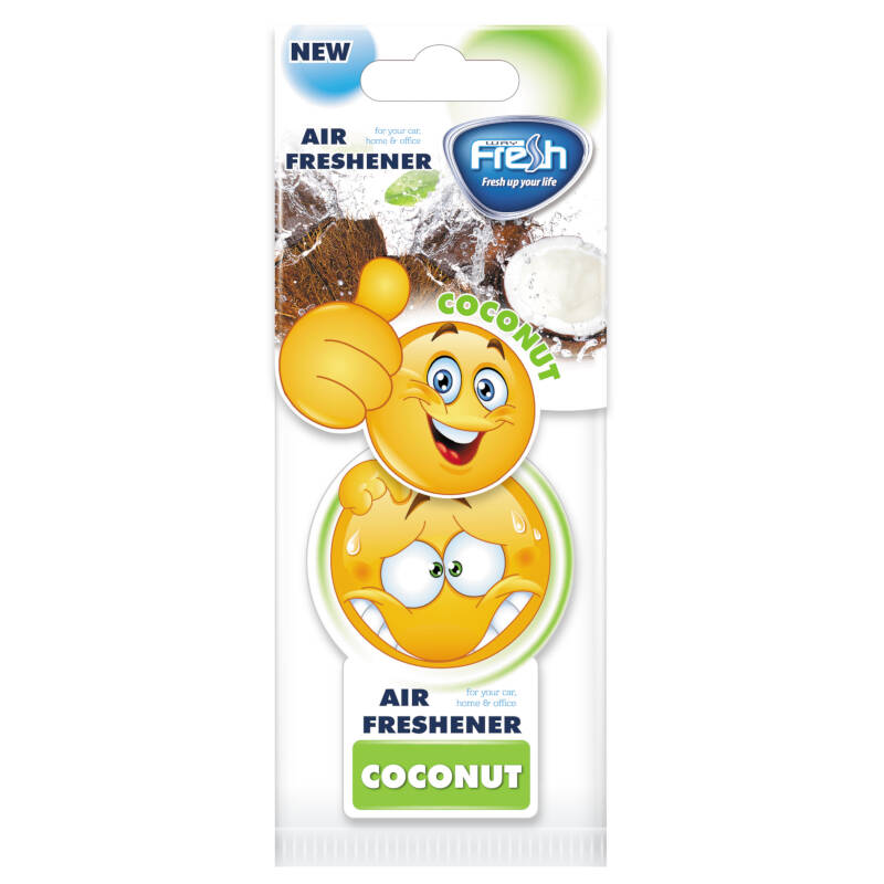 FRESH SM04 SMILE CAR FRESHENER COCONUT