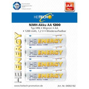 HEITECH 04002182 ΕΠΑΝΑΦΟΡΤΙΖΟΜΕΝΕΣ ΜΠΑΤΑΡΙΕΣ 4 TEMAXIA HR6 AA 1200mAh 1.2V