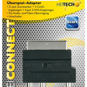 HEITECH 09004060 ΑΝΤΑΠΤΟΡΑΣ RCA ΣΕ SCART