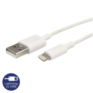 HEITECH 09001731 ΚΑΛΩΔΙΟ USB ΣΕ LIGHTNING 1M ΛΕΥΚΟ