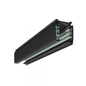 Ράγα Μαύρη 2m με 4 Αγωγούς Αλουμινίου Spotlight 5802