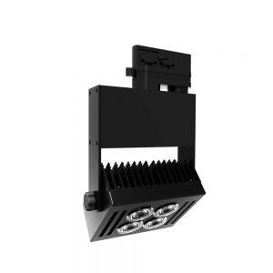 Σποτ Ράγας LED Ρυθμιζόμενο 40W 4000K Μαύρο Spotlight 5942