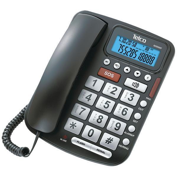 Τηλέφωνο Επιτραπέζιο Big Button Telco GCE6207 με Αναγνώριση Κλήσης