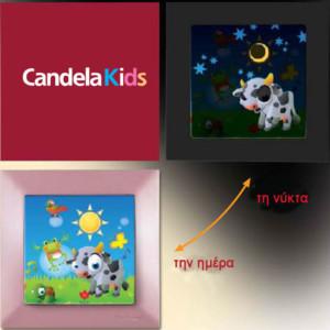 Διακόπτης Φωτεινός CANDELA Kids Απλός για κορίτσια