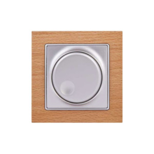 Dimmer Απλό Περιστροφικό 600W Elitra Plus Wood