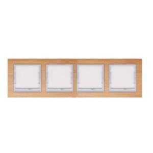 Πλαίσιο 4-πλό Οριζόντιο Elitra Plus Wood