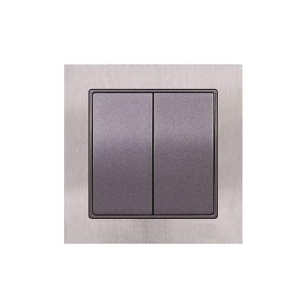 Διακόπτης 2-πλός A/R Elitra Plus Metal