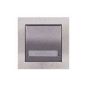 Μπουτόν Επιγραφής με Φως 12V Elitra Plus Metal