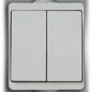 Στεγανός Διακόπτης Διπλός A/R Λευκός