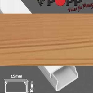 Κανάλι Αυτοκόλλητο 15x10mm SpeedFix Απομίμηση Ξύλου