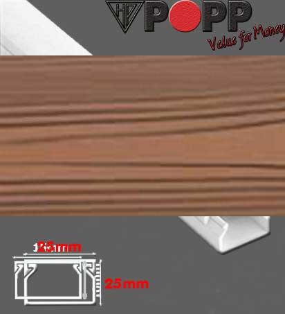 Κανάλι Αυτοκόλλητο 25x16mm SpeedFix Απομίμηση Ξύλου