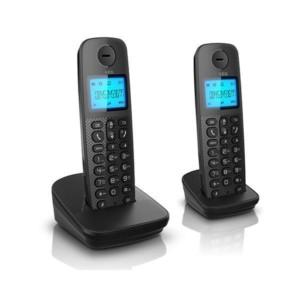 Ασύρματο Τηλέφωνο AEG Voxtel D120 Twin με Αναγνώριση Κλήσης