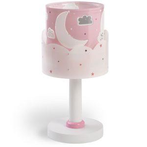 Ango 61231 S - Moon Pink κομοδίνου παιδικό φωτιστικό διπλού τοιχώματος