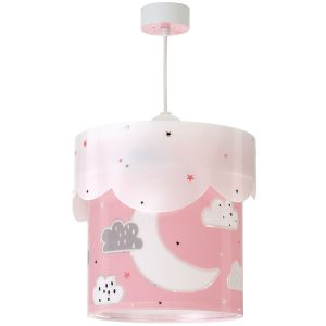 Ango 61232 S - Moon Pink κρεμαστό παιδικό φωτιστικό οροφής διπλού τοιχώματος