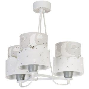 Ango 61237 E - Moon Gray κρεμαστό τρίφωτο φωτιστικό οροφής