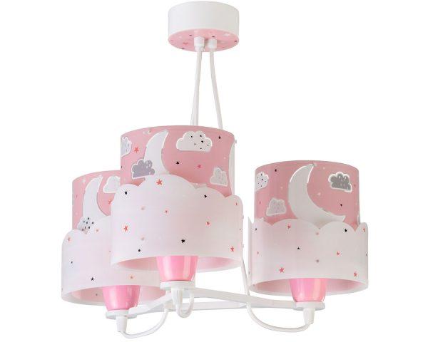Ango 61237 S - Moon Pink κρεμαστό τρίφωτο φωτιστικό οροφής
