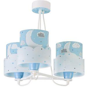 Ango 61237 T - Moon Blue κρεμαστό τρίφωτο φωτιστικό οροφής