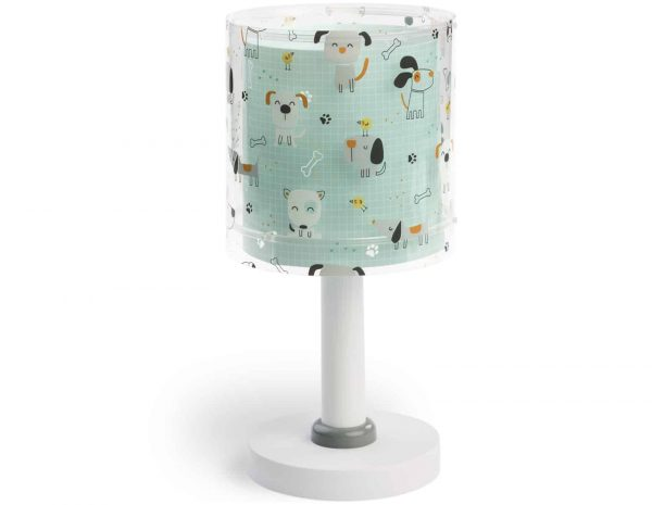 Ango 61311 - Happy Dogs παιδικό φωτιστικό κομοδίνου με διπλό τοίχωμα