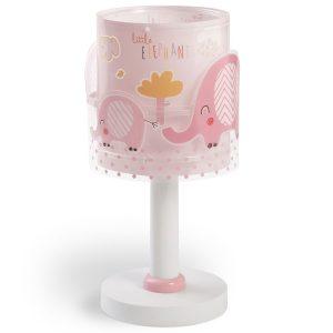 Ango 61331 S - Little Elephant Pink κομοδίνου παιδικό φωτιστικό διπλού τοιχώματος