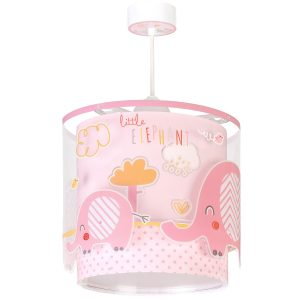 Ango 61332 S - Little Elephant Pink κρεμαστό παιδικό φωτιστικό οροφής διπλού τοιχώματος