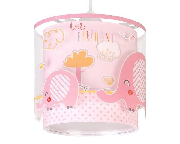 να παίξουν και να κοιμηθούν παρέα με τον αγαπημένο τους ήρωα. Το Little Elephant Pink κρεμαστό φωτιστικό οροφής διπλού τοιχώματος συμπληρώνει τα υπόλοιπα παιδικά φωτιστικά της συλλογής και είναι εξαιρετικά εύκολο στην εγκατάστασή του.
